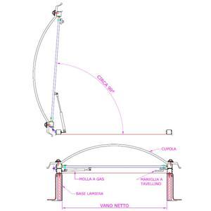 Lucernario completo di basamento in acciaio zincato e for Lucernario prezzo